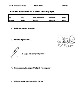 FRENCH Communication_Making request or how to form a question