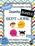 FRENCH Conversation Cards BUNDLE - Jasette: Speaking Prompts