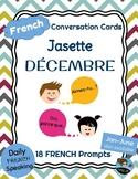 FRENCH Conversation Cards - Jasette - DECEMBER Speaking Prompts