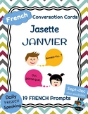 FRENCH Conversation Cards - Jasette - JANUARY Speaking Prompts
