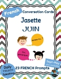FRENCH Conversation Cards - Jasette - JUNE Speaking Prompts