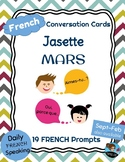 FRENCH Conversation Cards - Jasette - MARCH Speaking Prompts