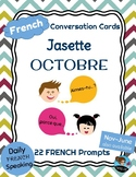 FRENCH Conversation Cards - Jasette - OCTOBER Speaking Prompts
