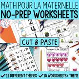 FRENCH Cut & Paste No Prep Math Worksheets - THE BUNDLE (maternelle)
