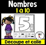 FRENCH Cut and Paste Number Sense 1-10 / Découpe et colle les nombres 1-10
