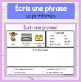 FRENCH DIGITAL Écris une phrase / histoire PRINTEMPS Write