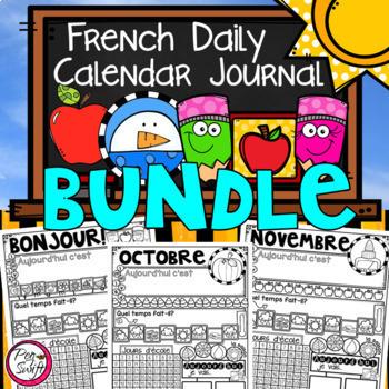 FRENCH Daily Calendar Journal BUNDLE