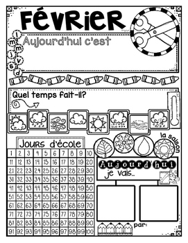 FRENCH Daily Calendar Journal by the Month {à l'école}