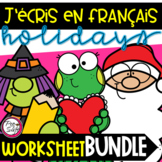 FRENCH Daily Writing Worksheet BUNDLE