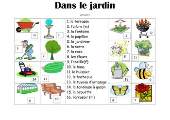 FRENCH - Picture Match - Dans le Jardin (In the garden)