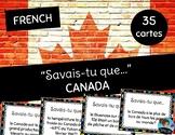 "FRENCH: Did you know... CANADA cards ""Savais-tu que..."""