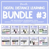 FRENCH Digital Distance Learning Bundle #3