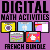 Digital Guided Math BUNDLE | FRENCH | Distance Learning |