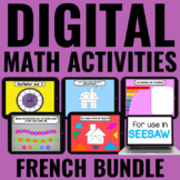 Digital Guided Math Activities BUNDLE | FRENCH | Distance