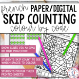 FRENCH Digital/Print Skip Counting Colour by Code Worksheets