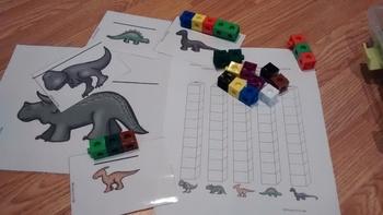 FRENCH Dinosaurs Mesurement activity/ Atelier Mesure Les dinosaures