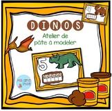 FRENCH Dinosaurs Playdough Mats/ Nombres Dinosaures en pât