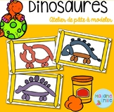 FRENCH Dinosaurs Playdough mats/ Dinosaures (pâte à modeler)