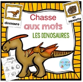 FRENCH {Dinosaurs words Scavenger Hunt}/ Dinosaures{chasse