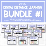 French Digital Distance Learning Bundle #1