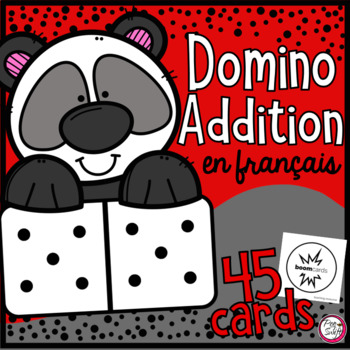 FRENCH Domino Addition • Digital Task Cards