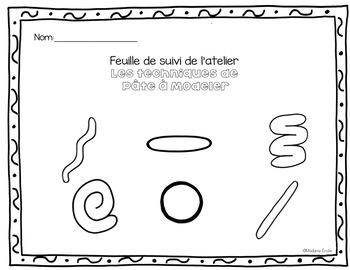 FRENCH Dough skills practice mats/ techniques de pâte à modeler #29juillet