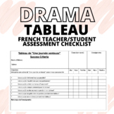FRENCH Drama Tableau Teacher/Student Checklist