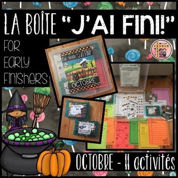 "FRENCH EARLY FINISHERS LA BOÎTE ""J'AI FINI"" - OCTOBRE (11 ACTIVITÉS)"