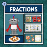 FRENCH EDITION: INTERACTIVE DIGITAL SIMPLE FRACTION ACTIVI