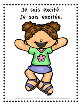 JE SUIS! - LES ÉMOTIONS!  FEELINGS IN FRENCH