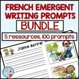 FRENCH EMERGENT WRITING PROMPTS   |  Écriture pour la maternelle