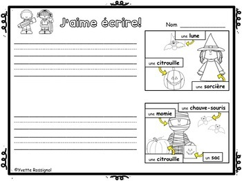 FRENCH HOLIDAYS EMERGENT WRITING PROMPTS | Écriture pour JOURS DE FÊTES