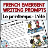 FRENCH SPRING EMERGENT WRITING | ÉCRITURE pour LE PRINTEMPS