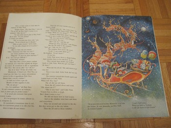 FRENCH ENGLISH BILINGUAL PICTURE BOOK winter/Christmas story ELF LUTIN INCL SHIP