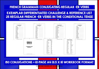 FRENCH -ER VERBS VERB DRILLS #6