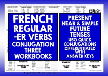 FRENCH -ER VERBS REVISION CONJUGATION PRESENT, NEAR & SIMPLE FUTURE TENSE