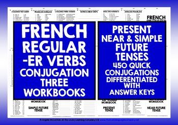 FRENCH -ER VERBS 3 CONJUGATION WORKBOOKS #1