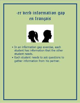 FRENCH -ER Verb Information Gap (Simple)