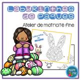 FRENCH Easter Mazes Mats/ Atelier motricité fine (labyrint