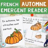 Automne FRENCH Fall Emergent Reader | Un livret pour l'aut