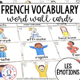 FRENCH Emotions Vocabulary Cards (cartes de vocabulaire - les émotions)
