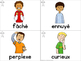 FRENCH Emotions Vocabulary Cards (cartes de vocabulaire - les émotions)