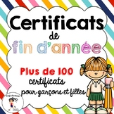 FRENCH End of Year Awards/ Certificats de fin d'année