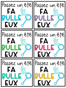 FRENCH End of Year Tags