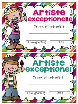 FRENCH End of the Year Awards - EDITABLE