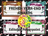 FRENCH End of year awards FULLY EDITABLE