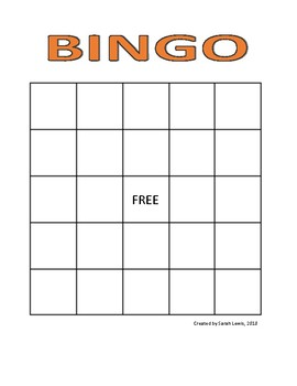 FRENCH & English - Halloween Bingo