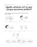 FRENCH - Evaluation du vocabulaire relie a la collation