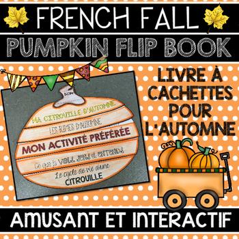 FRENCH FALL PUMPKIN/CITROUILLE FLIP BOOK - LIVRE À CACHETT