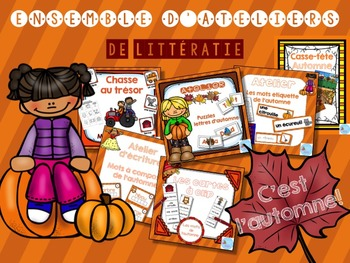 FRENCH {FALL} literacy pack/ Ensemble littératie AUTOMNE